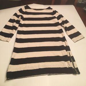 J crew cream and white striped dress